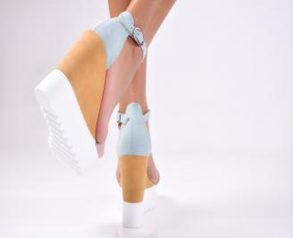 Дамски сандали шарени
