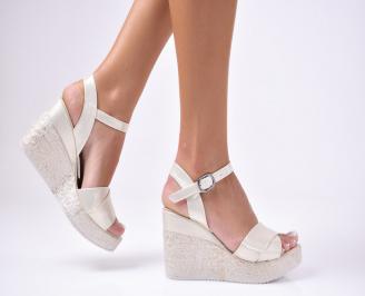 Дамски сандали  еко кожа златисти