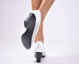 Дамски ежедневни обувки естествена кожа бели 3
