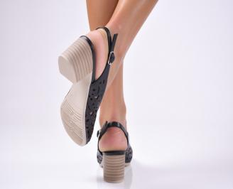 Дамски ежедневни сандали естествена кожа черни 3