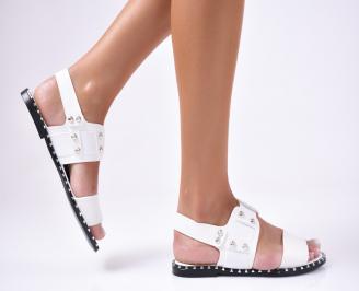 Дамски сандали еко кожа бели