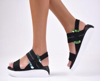 Дамски  сандали текстил черни