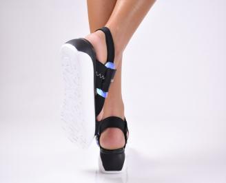 Дамски  сандали текстил черни 3