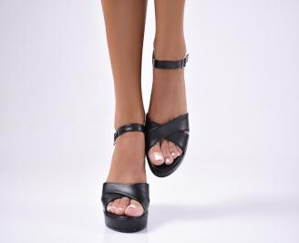 Дамски  сандали еко кожа черни