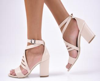 Дамски сандали  бежови