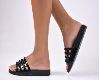 Дамски чехли силикон черни