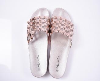 Дамски чехли пудра