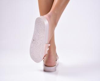 Дамски чехли силикон пудра