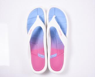 Дамски чехли силикон бели