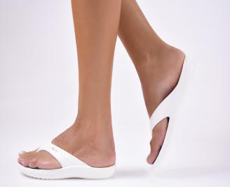 Дамски чехли  бели