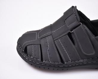 Мъжки сандали еко набук черни
