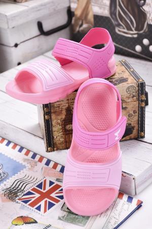 Детски сандали силикон розови
