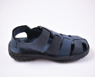 Мъжки сандали еко набук  сини
