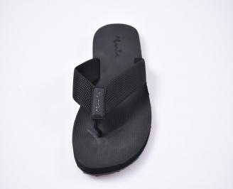 Мъжки джапанки текстил черни