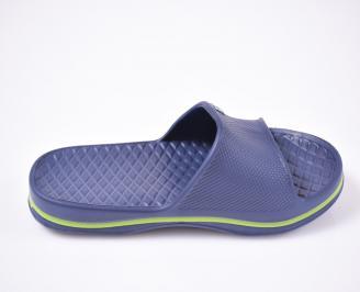 Мъжки джапанки силикон сини 3