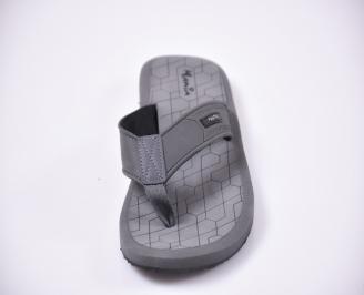 Мъжки джапанки силикон сиви