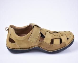 Мъжки сандали набук бежови