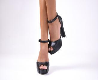 Дамски елегантни сандали  черни