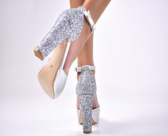 Дамски сандали  еко кожа  сиви