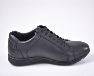 Мъжки обувки -Гигант естествена кожа черни
