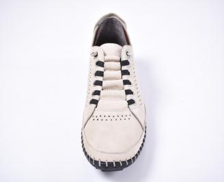 Мъжки спортно елегантни обувки набук бежови