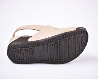 Дамски  сандали естествена кожа Гигант  бежови