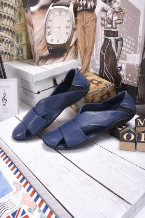 Мъжки сандали естествена кожа сини