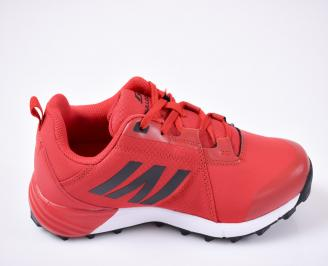 Юношески маратонки  червени
