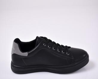 Мъжки обувки еко кожа черни