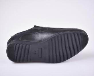 Мъжки спортно елегантни  обувки набук черни