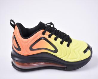 Юношески  маратонки   текстил жълти