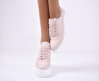 Дамски спортни  обувки  пудра