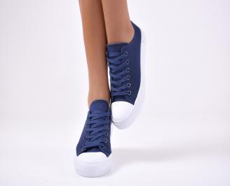Дамски спортни обувки текстил сини