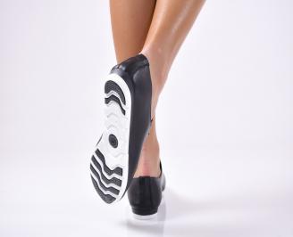 Дамски обувки равни- Гигант естествена кожа черни