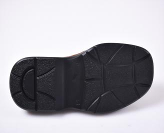 Мъжко тираджийско сабо естествена кожа кафяво