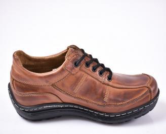 Мъжки обувки естествена кожа кафяви 3