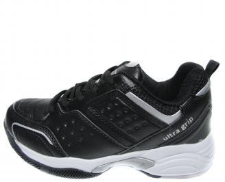 Юношески спортни обувки Bulldozer черни еко кожа