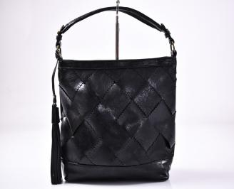 Дамска чанта еко кожа черна