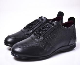 Мъжки обувки естествена кожа черни