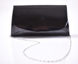 Абитуриентска чанта еко лак черен