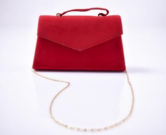 Абитуриентска чанта еко велур червена