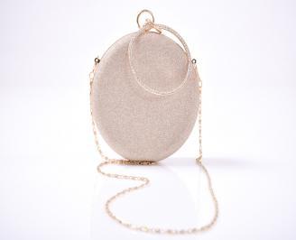 Абитуриентска чанта текстил ситен брокат пудра