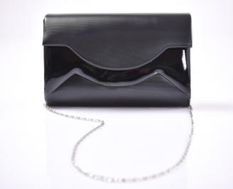 Елегантна чанта еко кожа черна