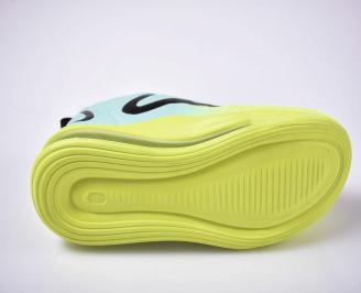 Мъжки спортни обувки текстил зеленo/синьо