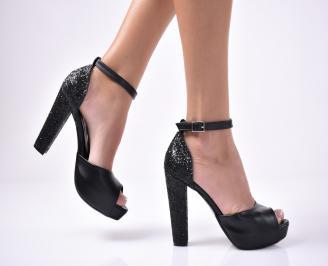 Дамски  елегантни сандали  черен