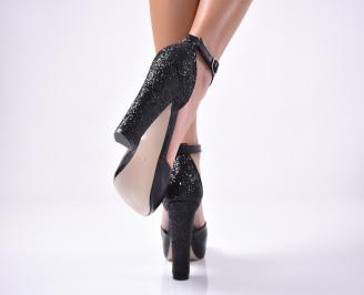 Дамски  елегантни сандали  черен 3