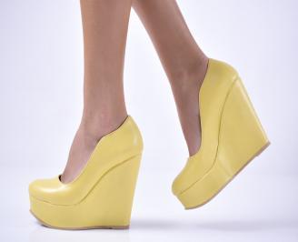 Дамски  обувки на платформа  жълти