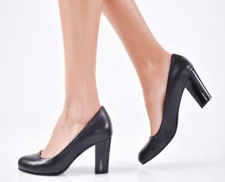 Дамски елегантни обувки гигант еко кожа черни