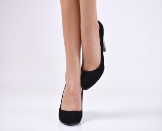Дамски обувки гигант  набук  черни