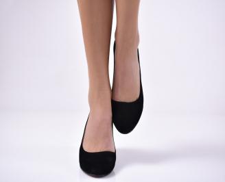Дамски ежедневни обувки набук черни